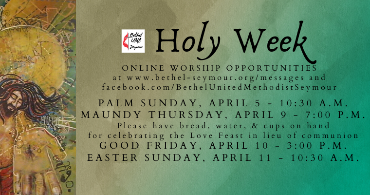 Special Announcement: Holy Week 2020