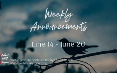 Weekly Announcements – June 14-20 2020