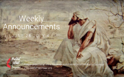 Weekly Announcements – June 28 thru July 4 2020